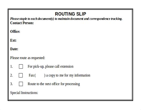 routing form template 10 ms word 2010 format slip templates free