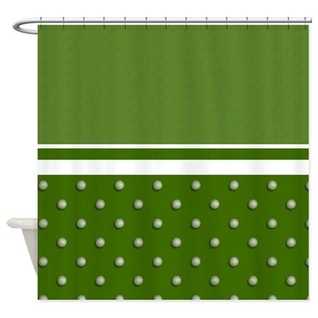 Golf Ball Pattern Shower Curtain By Stolenmomentsph