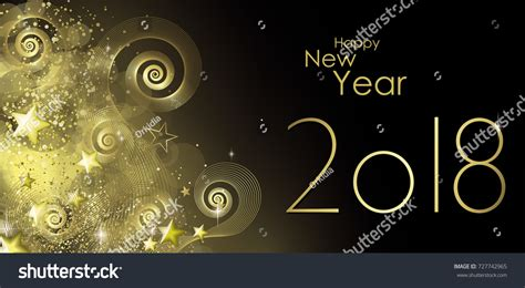 happy new year 2018 greeting card stock vector happy new year 2018 greeting card stock vector 727742965