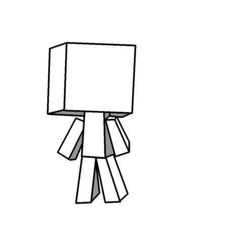 Minecraft Character Drawing Template blank minecraft player drawing by rotton77 on deviantart