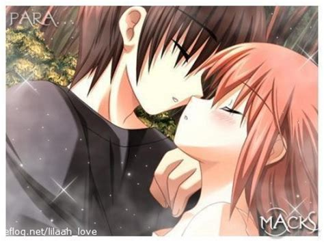 anime kiss anime couples images small kiss wallpaper and background