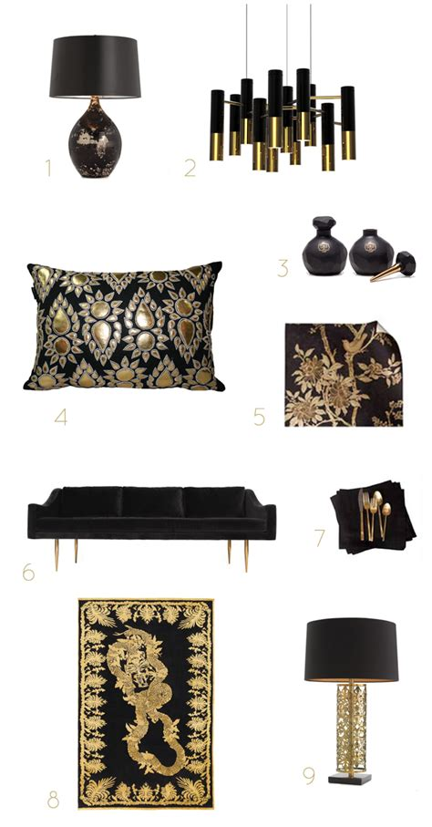 black home decor accessories black gold home accessories