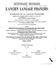 1361842172 dictionnaire historique de l ancien langage dictionnaire historique de l ancien langage fran 231 ois ou