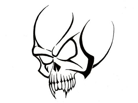 simple skull tattoo design simple tribal skull tattoo designs tattoo designs