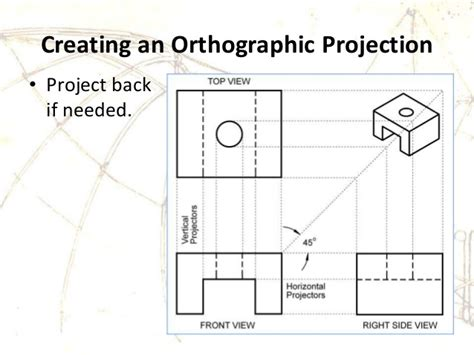 Rectangle Floor Plans by Engineering Drawing Orthographic Projection Auxiliary View