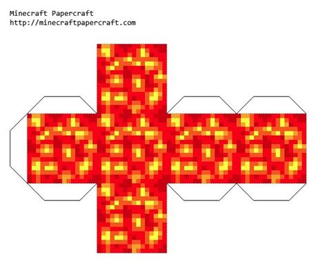 Papercraft Printables - minecraft papercraft lava minecraft printables
