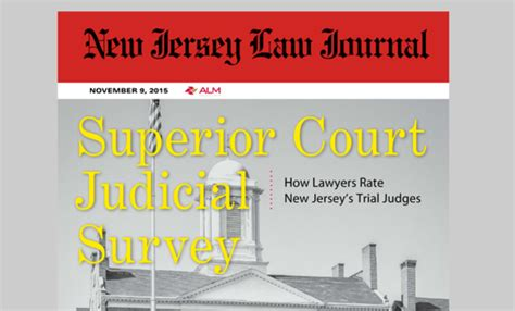 New Jersey Superior Court Search New Jersey Superior Court Judicial Survey 2015 New Jersey Journal