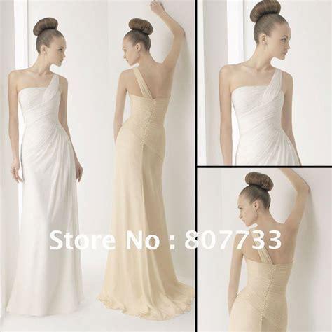 aliexpress buy free shipping j0088 new 2012 chagne white ivory pleated chiffon one