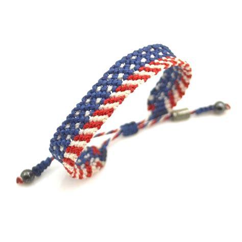 Macrame Bracelet - american flag macrame bracelet