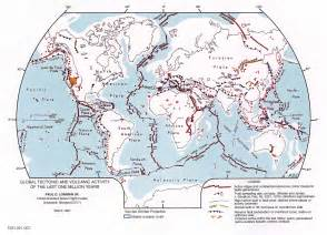 tectonic map of america global tectonic and volcanic activity of the last one