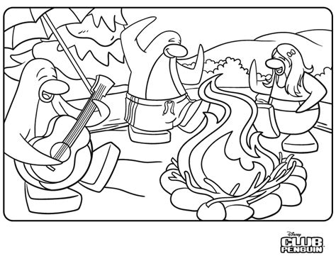 Coloring Pages Club Penguin Cheats Secrets Tips More Club Penguin Coloring Pages