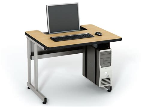 Recessed Monitor Desk Best Home Design 2018 Recessed Computer Desk