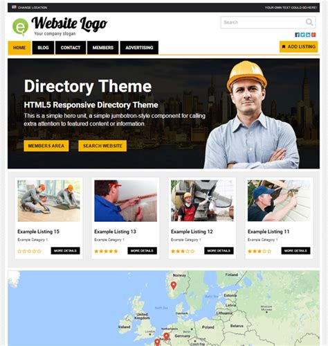 wordpress directory layout directory theme demo free online demo
