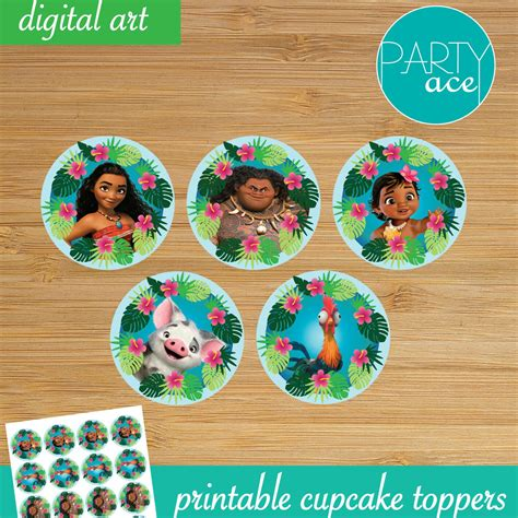 moana boat cupcake toppers moana printable cupcake toppers quot returns the heart of te