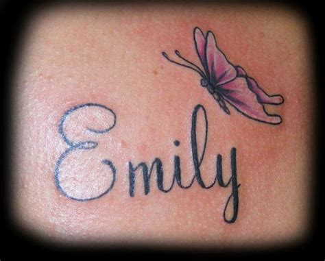 tattoo name with butterfly butterfly with name tattoo almost allie s idea tats