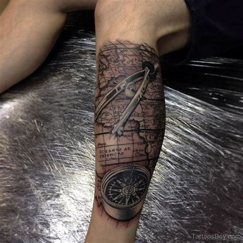 compass and map tattoo 41 stylish compass tattoos for leg