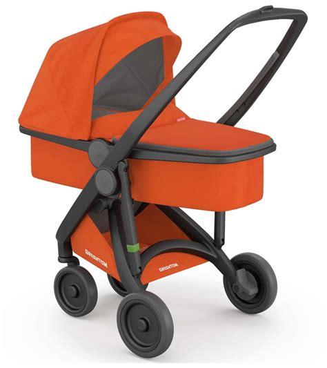 orange and black infant car seat greentom carrycot stroller black orange