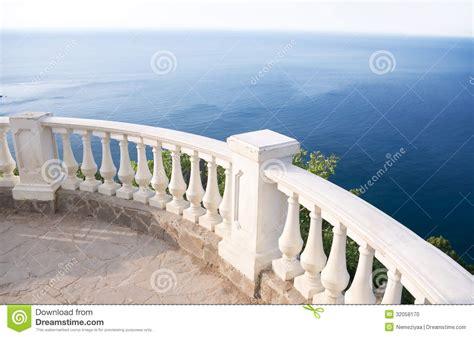 Balcony Banister Stone Balcony Stock Photo Image 32058170