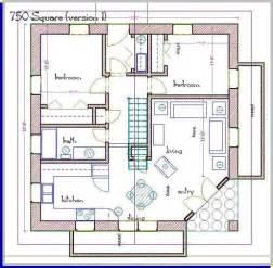 Straw bale house plan 750 sq ft