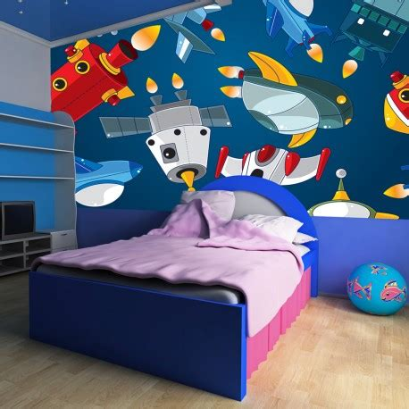 papier peint chambre d enfant papier peint pour chambre d enfant vehicules spatiaux