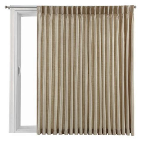 jcpenney sliding glass door curtains royal velvet 174 supreme pinch pleat back tab patio panel