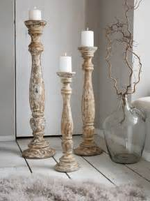 Large Candlestick Holder Large Wooden Floor Candle Holders Nordic House