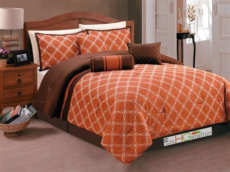 burnt orange king comforter sets burnt orange bed comforter