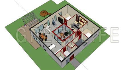 maison avec patio central maison bois azzura 145 maison bois greenlife