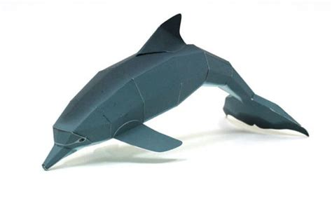 Dolphin Papercraft - animal paper model dolphin ver 2 free template