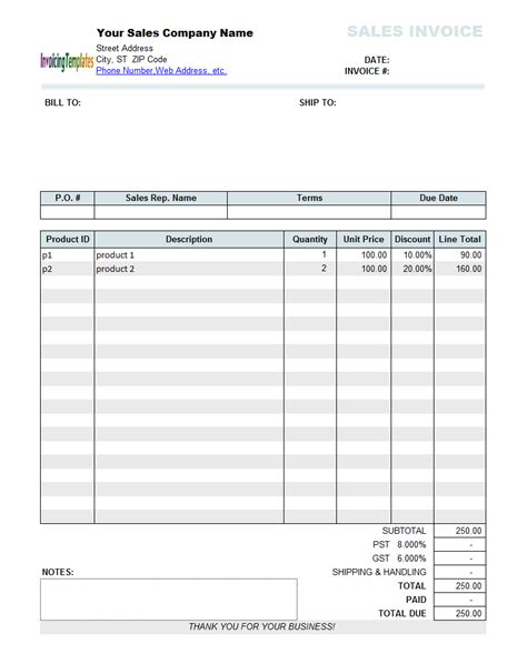 free sle invoice template excel sales invoice template excel free free invoice