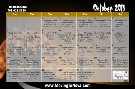 alexandria va october calendar