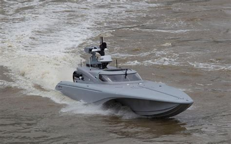 rc boat simulator hack royal navy unveils robot spy speedboat