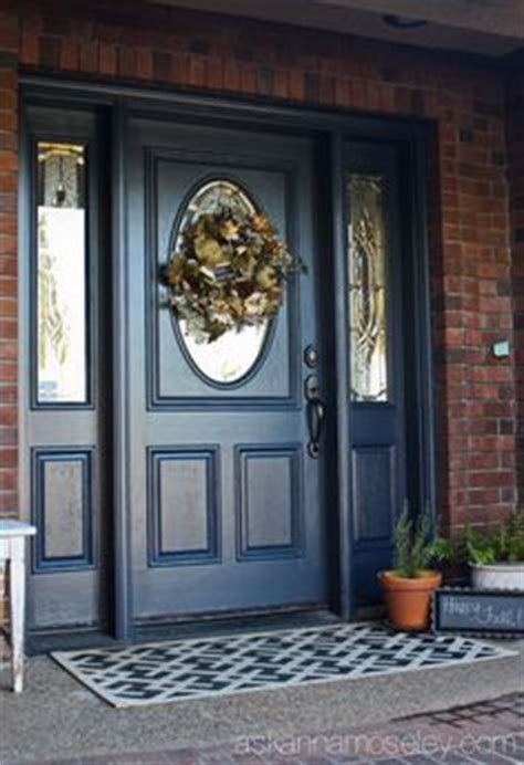blue front door colors what color to paint front door with brick