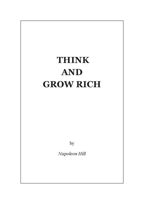 think and grow rich guide an official publication of the napoleon hill foundation books 030413 hill think and grow rich by divinegrind artis