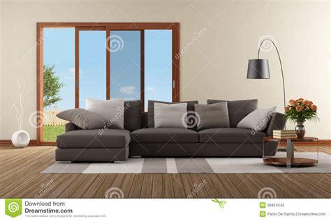 Braunes Sofa Weiße Möbel 3365 by Modernes Wohnzimmer Beige