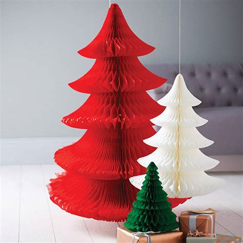 christmas decorations with tissue paper tissue paper tree decoration by pearl and earl notonthehighstreet