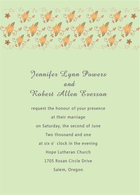 Wedding Invitation Text by Wedding Invitations In Text Wedding Invitation