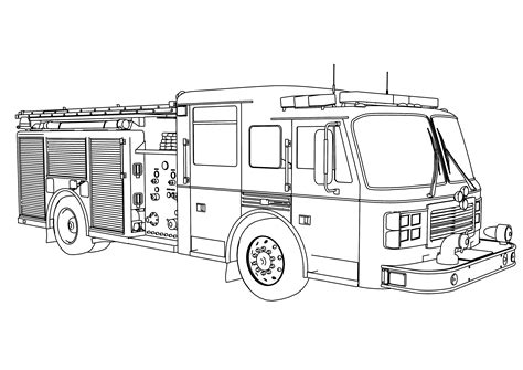 Fire Truck Coloring Pages Bestofcoloring Com Firetruck Color Page