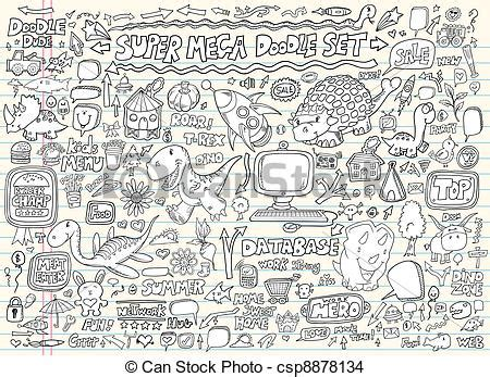 free vector doodle elements eps vector of doodle sketch elements vector set doodle