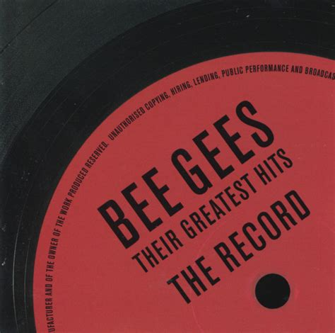 Cd Bee Gees The Ultimate 2cd Imported Eu bee gees their greatest hits the record cd at discogs