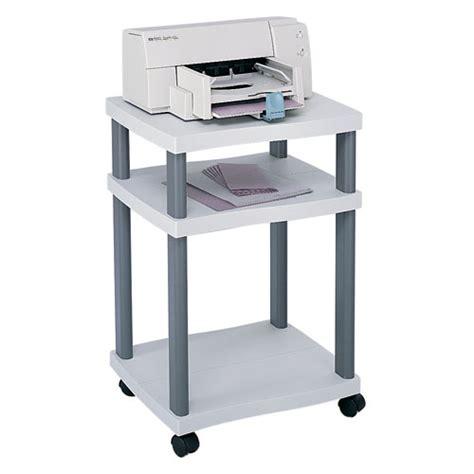 desk side printer stand safco scoot wave printer stands