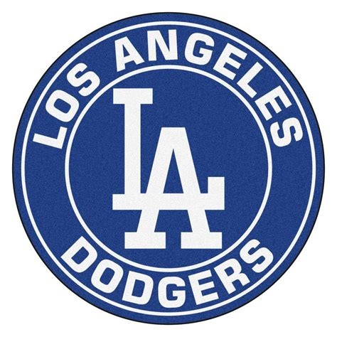 fanmats mlb los angeles dodgers navy  ft   ft  area rug   home depot