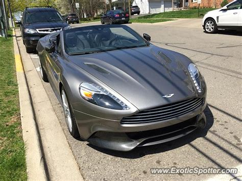 Aston Martin Michigan by Aston Martin Vanquish Spotted In Birmingham Michigan On