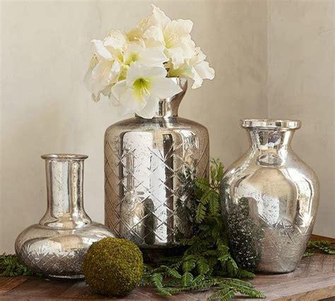 kingsley etched mercury glass vases vases