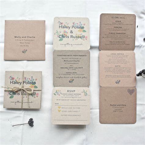 floral tri fold wedding invitation by paper and inc notonthehighstreet