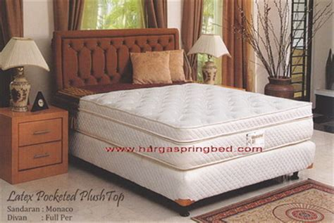 Bed Bigland Ukuran 180 uniland pocket plush top toko kasur bed