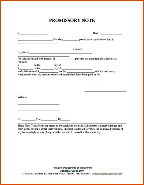 promissory note template free promissory note template templatezet
