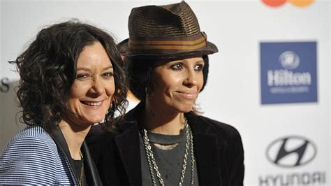 linda perry singer songwriter sara gilbert and linda perry have married the courier mail