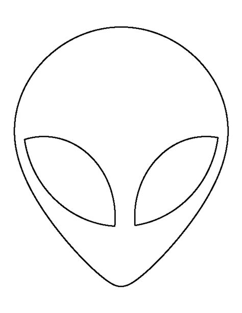 alien head pattern use the printable outline for crafts