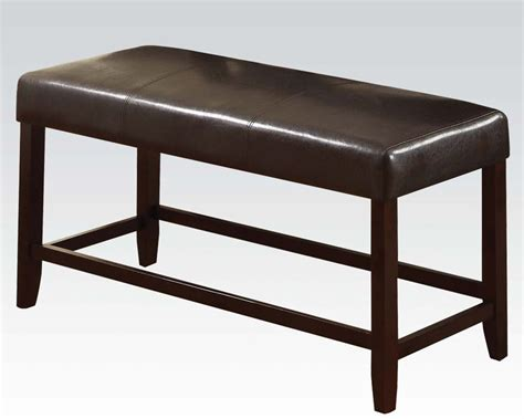 counter bench counter height bench idris by acme furniture ac70528